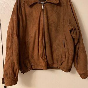 Perry Ellis Brown Microsuede Coat